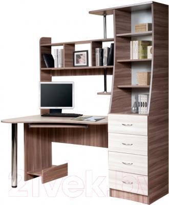 Компьютерный стол Мебель-Класс Символ правый (ясень шимо св./ясень шимо темный)