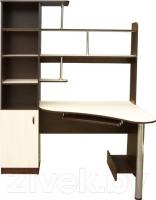 Компьютерный стол Мебель-Класс Соната левый (венге-дуб молочный) -
