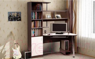 Компьютерный стол Мебель-Класс Соната левый (венге-дуб молочный) - в интерьере