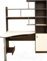 Компьютерный стол Мебель-Класс Соната правый (венге-дуб молочный) -
