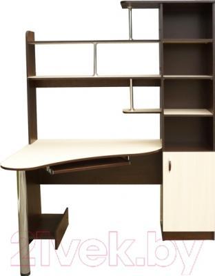 Компьютерный стол Мебель-Класс Соната правый (венге-дуб молочный)