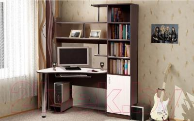 Компьютерный стол Мебель-Класс Соната правый (венге-дуб молочный) - в интерьере