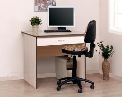 Письменный стол Мебель-Класс Форум (дуб молочный-венге) - в интерьере