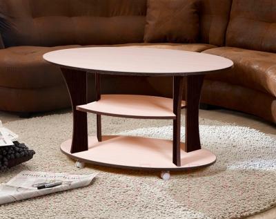 Журнальный столик Мебель-Класс Барселона (венге-дуб молочный 2) - в интерьере