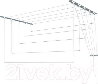 Сушилка для белья ПТФ Лиана С-012 (2.3м, металл)