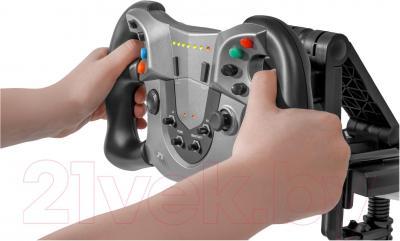 Игровой руль Defender Forsage Sport / 64372 - прорезиненное покрытие руля