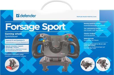 Игровой руль Defender Forsage Sport / 64372