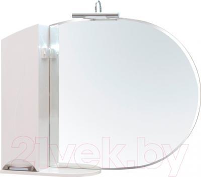 Шкаф с зеркалом для ванной Аква Родос Глория 105 L (ZGLP105)