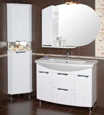 Шкаф с зеркалом для ванной Аква Родос Глория 105 L (ZGLP105) - в интерьере