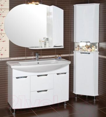 Шкаф с зеркалом для ванной Аква Родос Глория 105 R (ZGLP105) - в интерьере