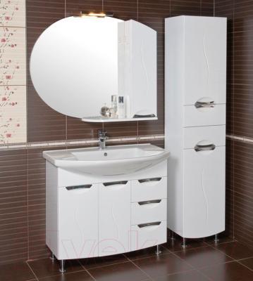 Шкаф с зеркалом для ванной Аква Родос Глория 95 R (ZGLP95) - в интерьере