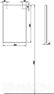 Зеркало для ванной Kolo Domino 88309 (белый)