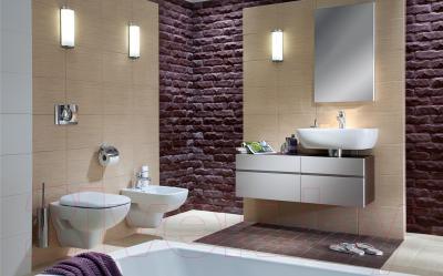 Зеркало для ванной Kolo Domino 88320 (капучино) - в интерьере