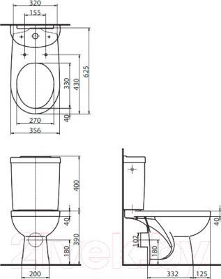 Унитаз напольный Kolo Primo K89008 - схема
