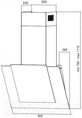 Вытяжка декоративная Grand Panama (60, белый)