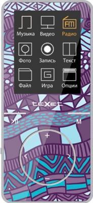 MP3-плеер TeXet T-48 (8Gb, фиолетовый)
