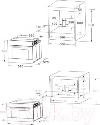Электрический духовой шкаф Midea 65DME40017
