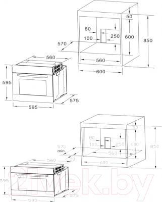 Электрический духовой шкаф Midea 65DAE41127