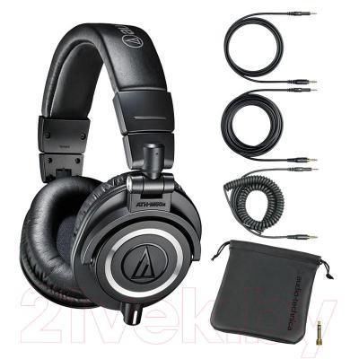 Наушники Audio-Technica ATH-M50x (черный) - комплектация