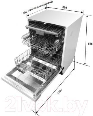 Посудомоечная машина Midea M60BD-1406D3 - панель управления