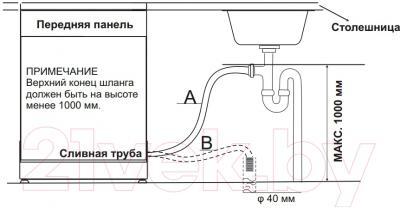 Посудомоечная машина Midea M45BD-1006D3 Auto - схема установки