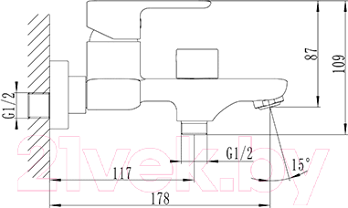 Смеситель Iddis Brick BRISB02i02