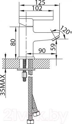 Смеситель Milardo Magelan MAGSB00M01 - схема