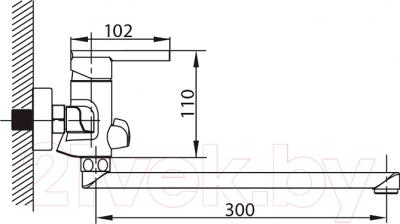 Смеситель Milardo Magellan MAGSBLCM10 - схема
