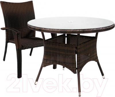 Комплект садовой мебели Garden4you Wicker 13323/22 (темно-коричневый)