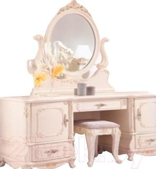 Туалетный столик с зеркалом Векастиль 1031 (белый)
