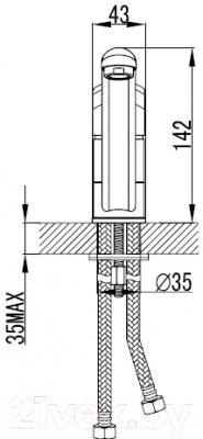 Смеситель Milardo Neva NEVSB00M05 - схема