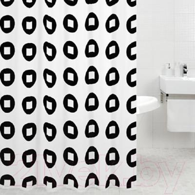 Текстильная шторка для ванной Iddis 220P24RI11 - в интерьере