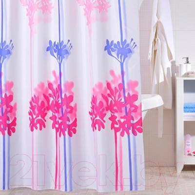 Текстильная шторка для ванной Iddis 270P24RI11 - в интерьере