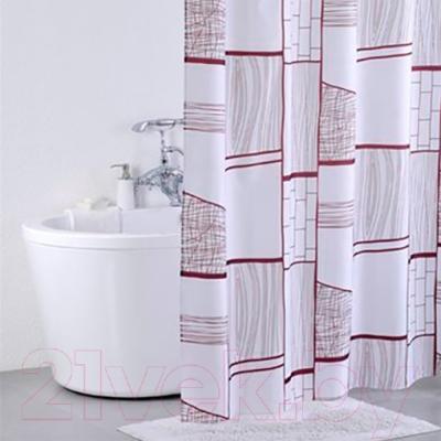Текстильная шторка для ванной Iddis 310P20RI11 - в интерьере
