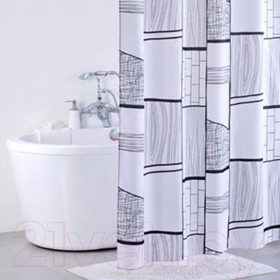 Текстильная шторка для ванной Iddis 311P20RI11 - в интерьере