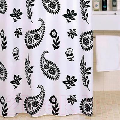 Текстильная шторка для ванной Iddis 350P20RI11 - в интерьере
