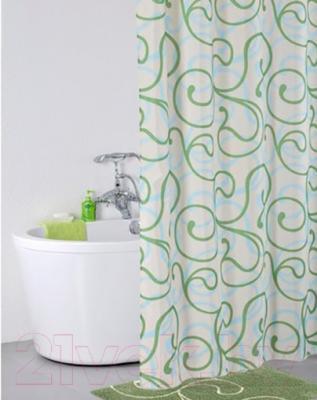 Текстильная шторка для ванной Iddis 412P20RI11 - в интерьере