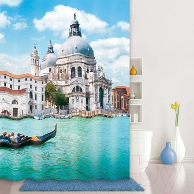 Текстильная шторка для ванной Iddis 540P18Ri11