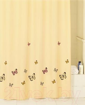 Текстильная шторка для ванной Iddis SCID033P - в интерьере