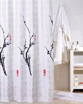 Текстильная шторка для ванной Iddis SCID100P - в интерьере
