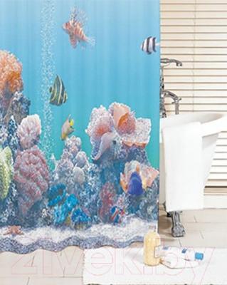 Текстильная шторка для ванной Iddis SCID190P - в интерьере