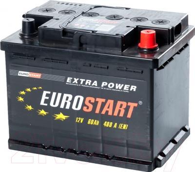 Автомобильный аккумулятор Eurostart 60 А/ч