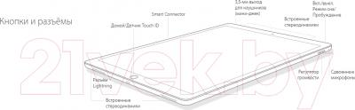 Планшет Apple iPad Pro Cell 128GB Demo / 3A789HC/A (золотой)