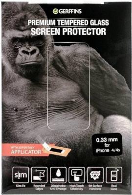 Защитное стекло для телефона Gerffins 606198 (0.33мм, для iPhone 4/4s)