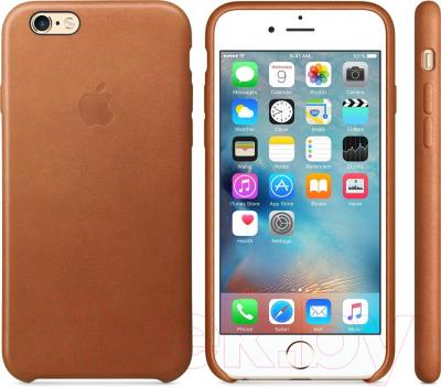 Накладной чехол Apple iPhone 6s Leather Case / MKXT2ZM/A