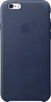 Чехол-бампер Apple Leather Case MKXU2ZM/A (темно-синий) -