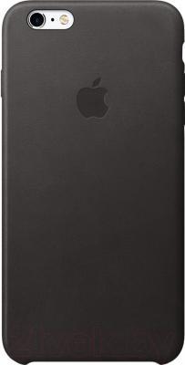 Чехол-бампер Apple Leather Case / MKXF2ZM/A (черный)