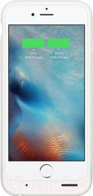 Чехол-зарядка Apple MGQM2ZM/A - на экране блокировки отображаются точные данные об остатке заряда телефона и чехла