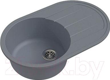 Мойка кухонная Ewigstein Elegant R50F (серый металлик)