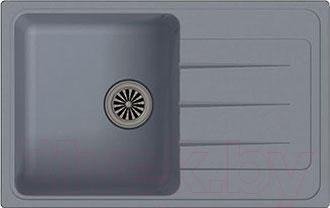 Мойка кухонная Ewigstein Elegant 50F (серый металлик)